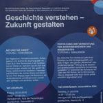 Plakat mit Beschreibung der Veranstaltungen