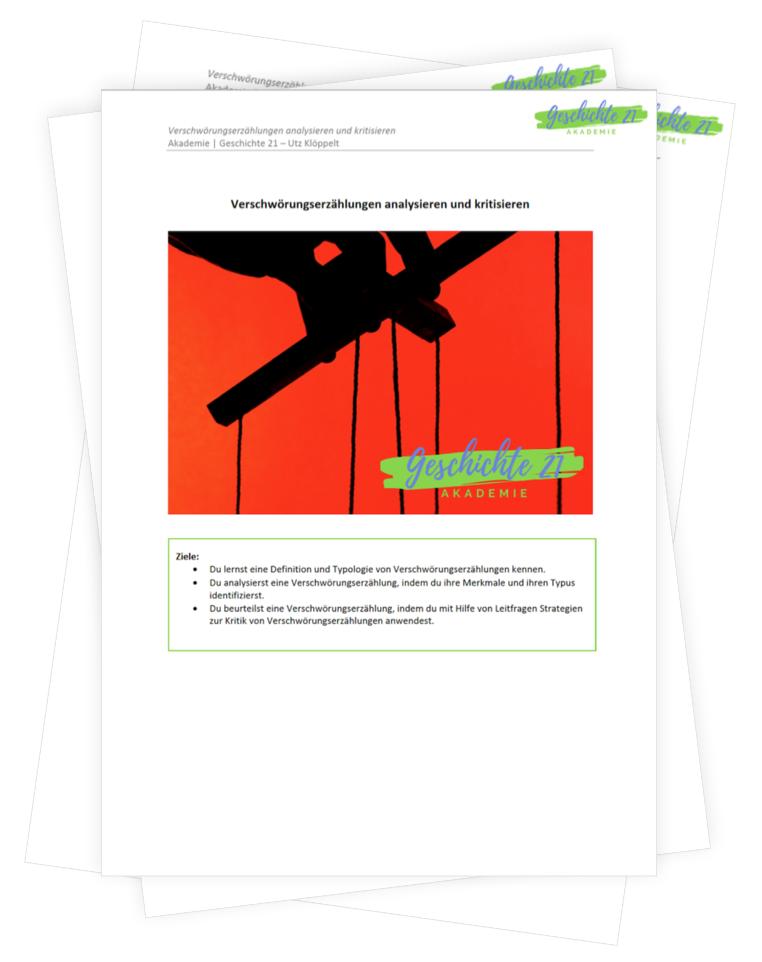 Bild des PDF-Downloads zu Verschwörungstheorien